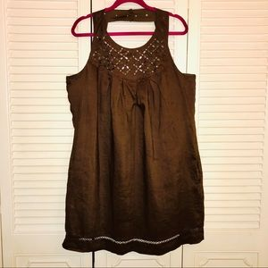 EUC Brown Nicole Miller Dress with Pockets Size 14